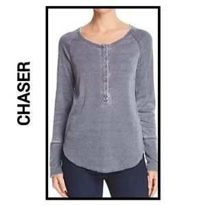 Chaser Snap Front Long Sleeve Henley